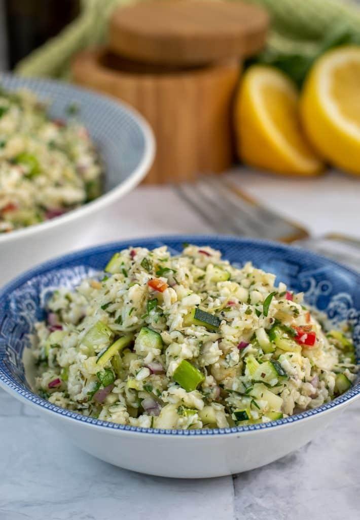 Cauliflower Tabouli Salad Keto