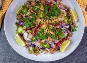Low Carb Thai Egg Roll Bowl