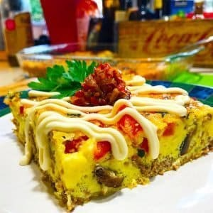 Keto Cheese Steak Breakfast Casserole