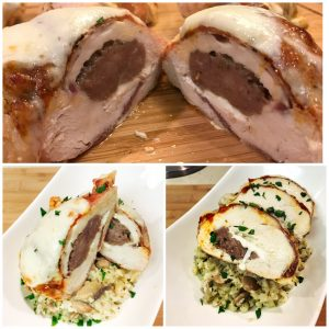 Low Carb Stuffed Chicken Parmesan