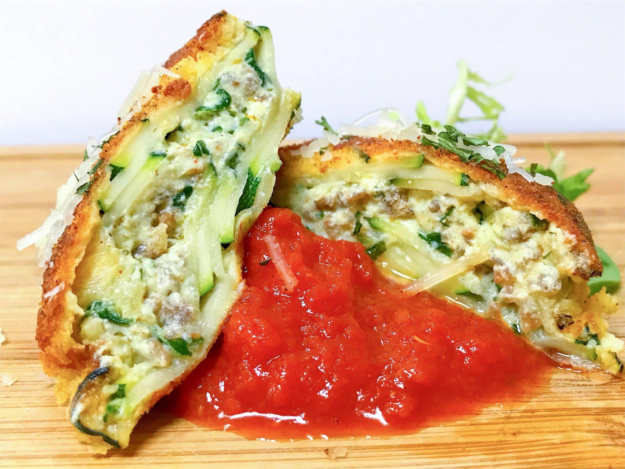 Zucchini Fried Ravioli P