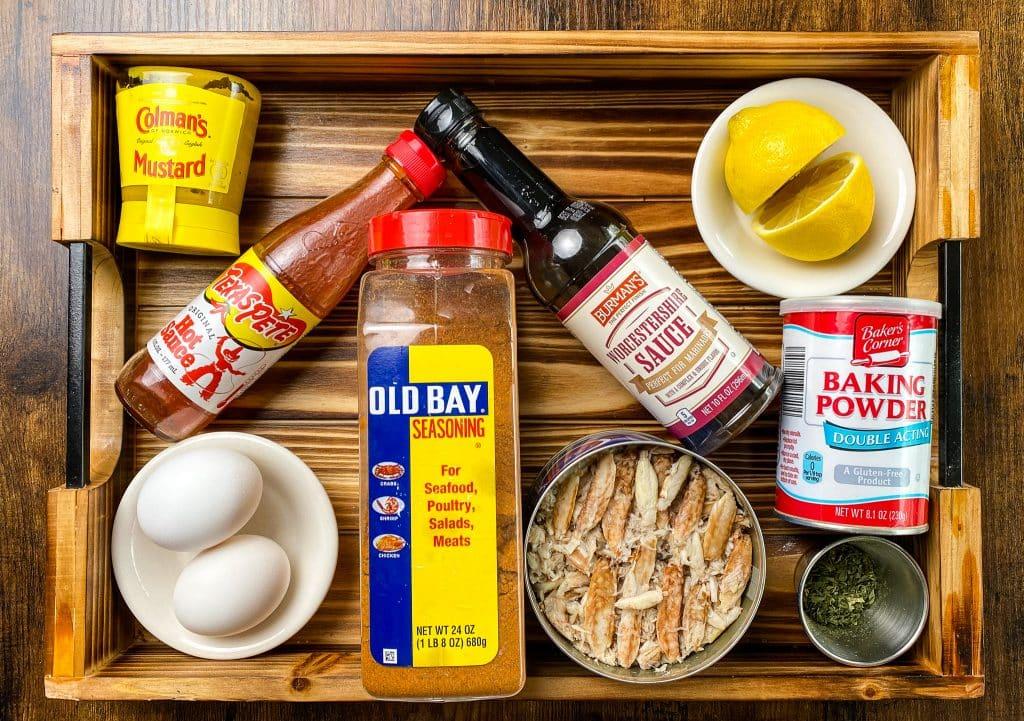 Ingredients to make Maryland Style Keto Crab Cakes
