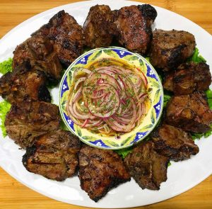 Low Carb Tandoori Lamb w/ Marinated Onions