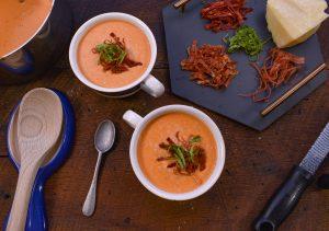 Keto Creamy Tomato Basil Soup