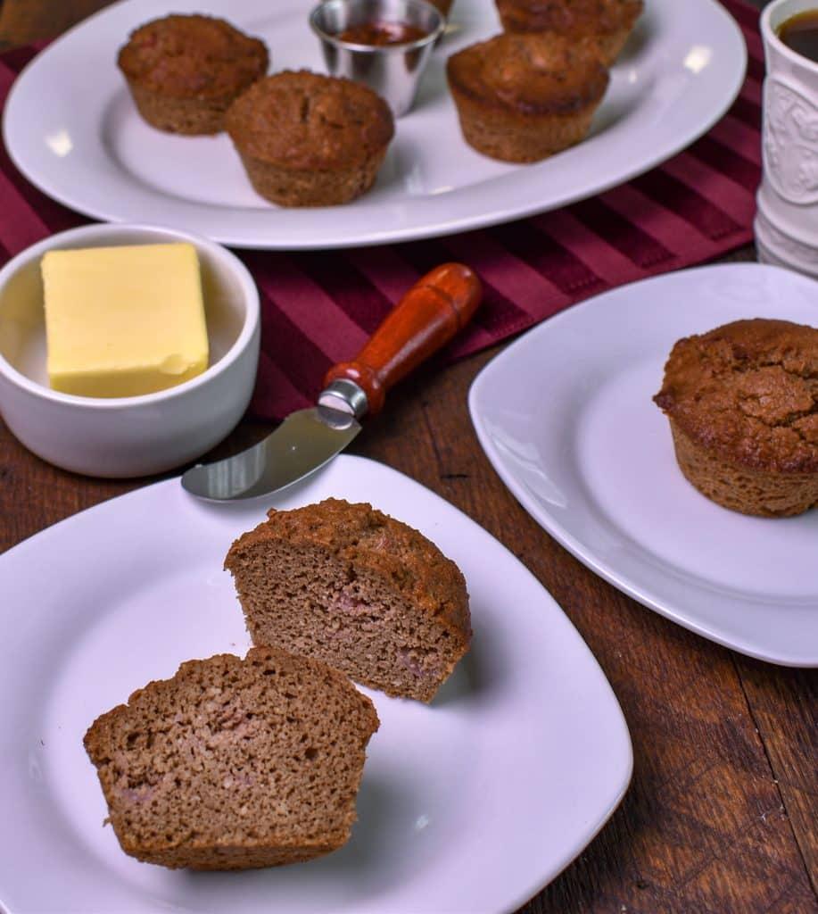 Keto chocolate strawberry muffins