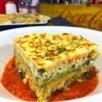 Chicken Eggplant Lasagna Low carb Chicken Parmesan