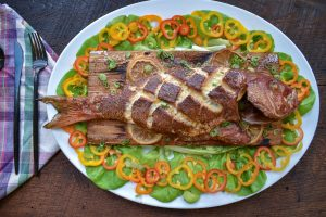 Smoked Whole Red Snapper