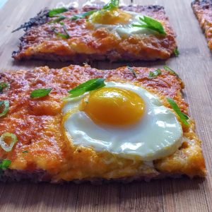 Keto Sausage Crust Breakfast Pizza