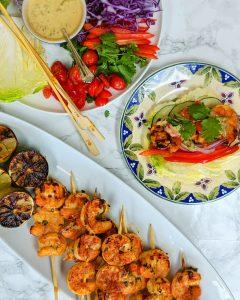 Keto Tandoori Shrimp w/ Napa Cabbage Lettuce Cups