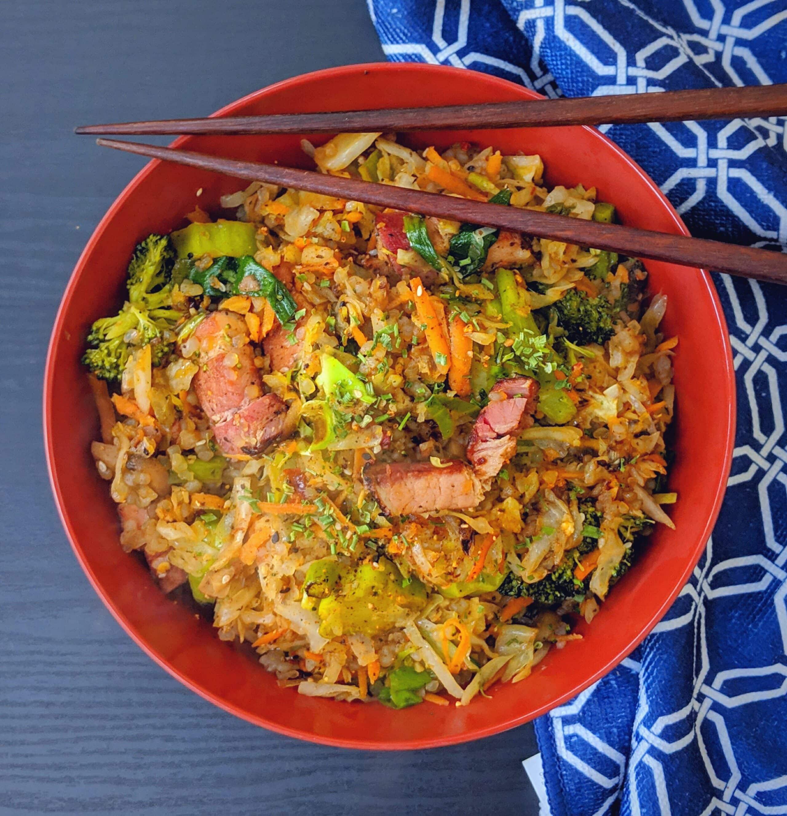 Keto Togarashi Pork Fried Rice