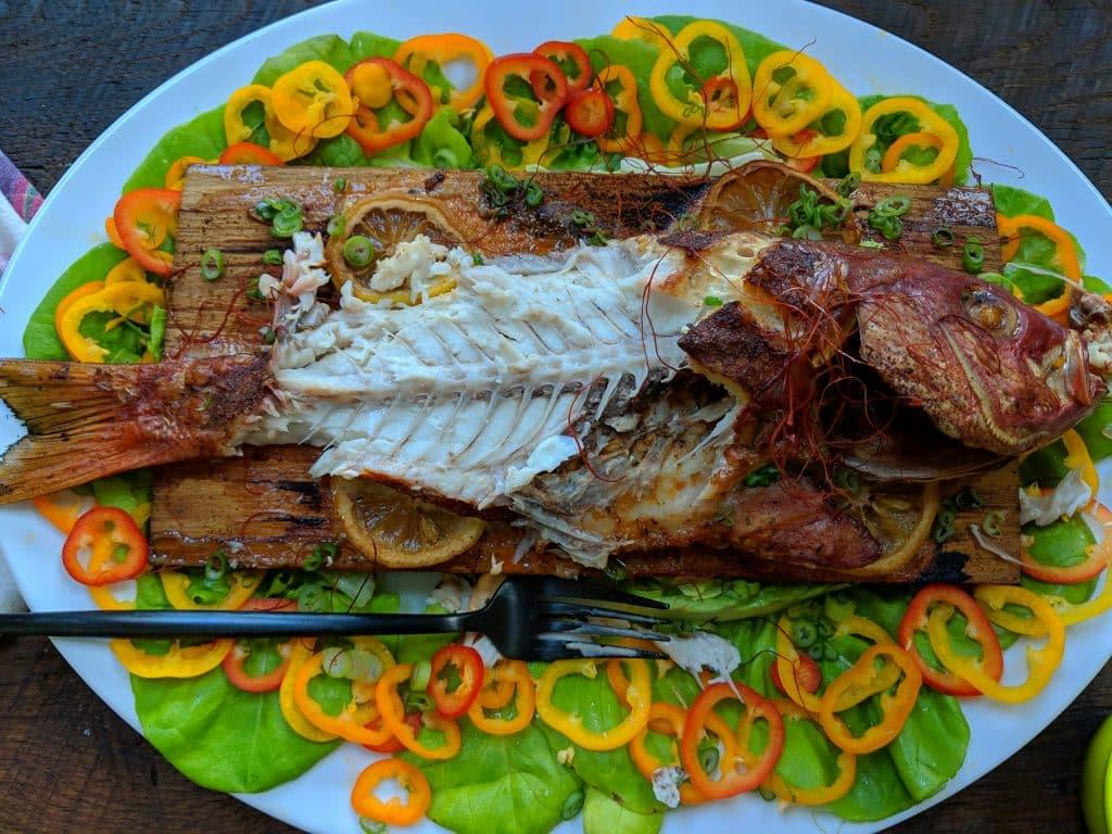 Half eaten fish