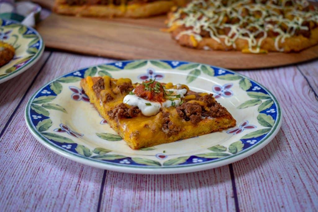 Mexican chicken crust keto pizza