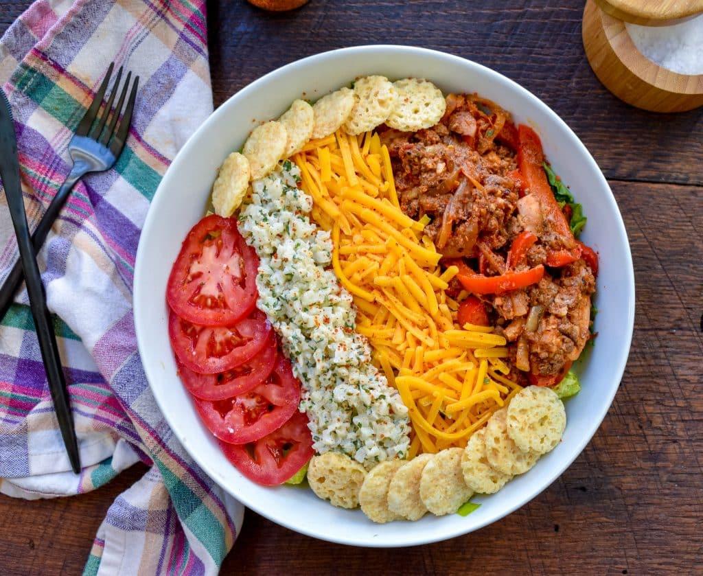 Chicken Fajita Keto Burrito