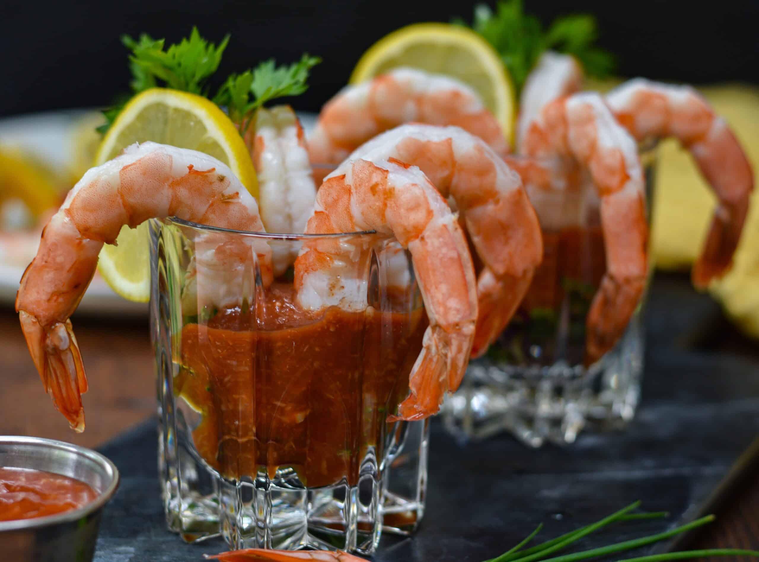 Shrimp Cocktail with Keto Cocktail Sauce
