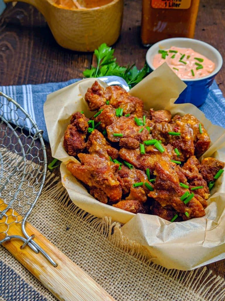 crispy tender chicken thighs