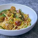 Keto Brunch pasta Brats and Eggs