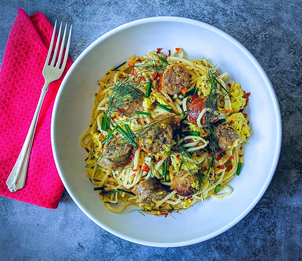 Keto brunch pasta with Palmini