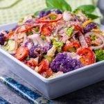 Low Carb Side Dish: Purple Cauliflower Antipasti