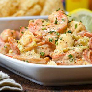 Pepperoni Mozzarella Shrimp Salad