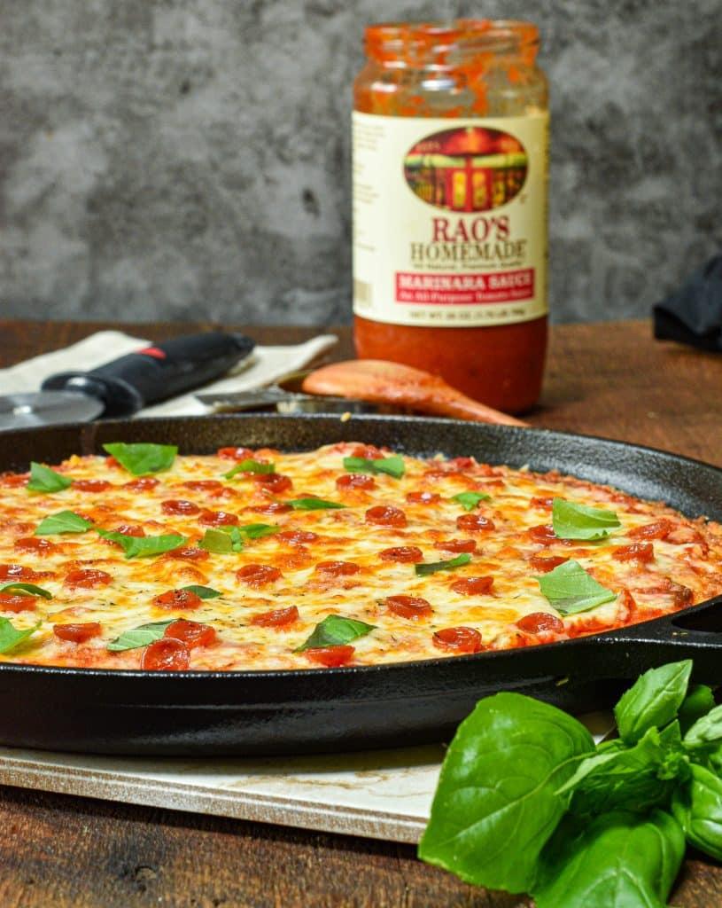 Keto Pan Pizza, Pizza Hut Copycat recipe