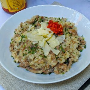 Cheesesteak risotto Keto cut meal
