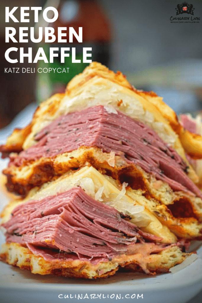 keto reuben chafe sandwich