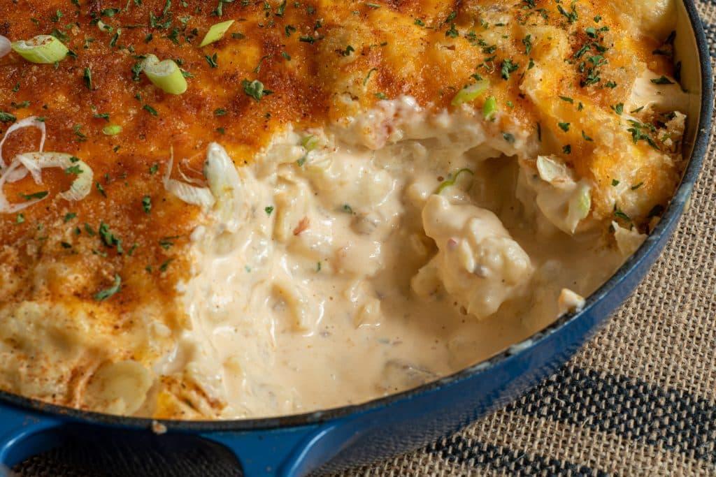 Single serving Keto cauliflower Mac and cheese