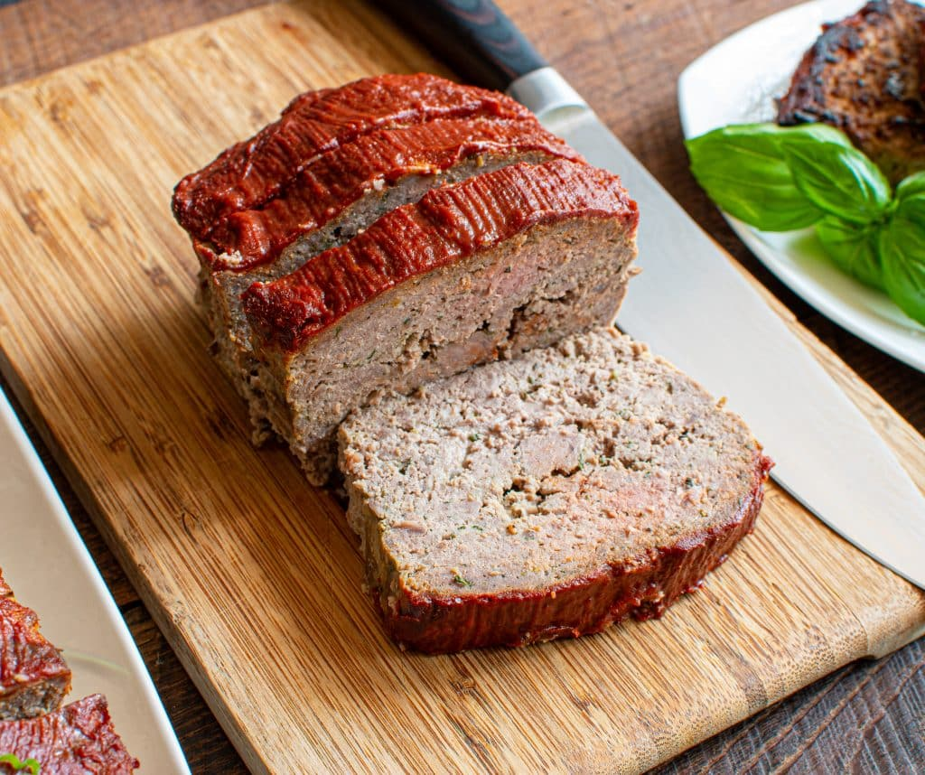 Italian Keto Meatloaf with Balsamic Ketchup