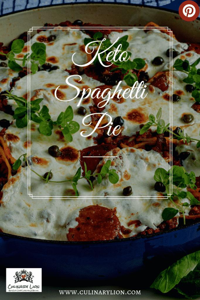 Baked Spaghetti Pie Recipe Low Carb