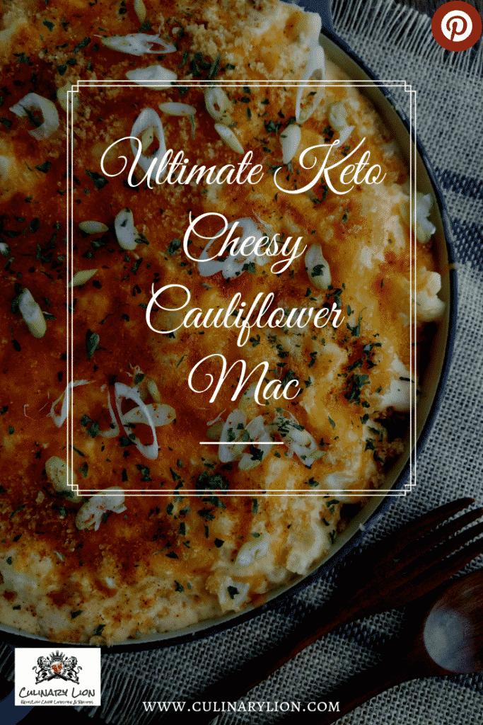 Single serving Keto cauliflower Mac and cheese keto