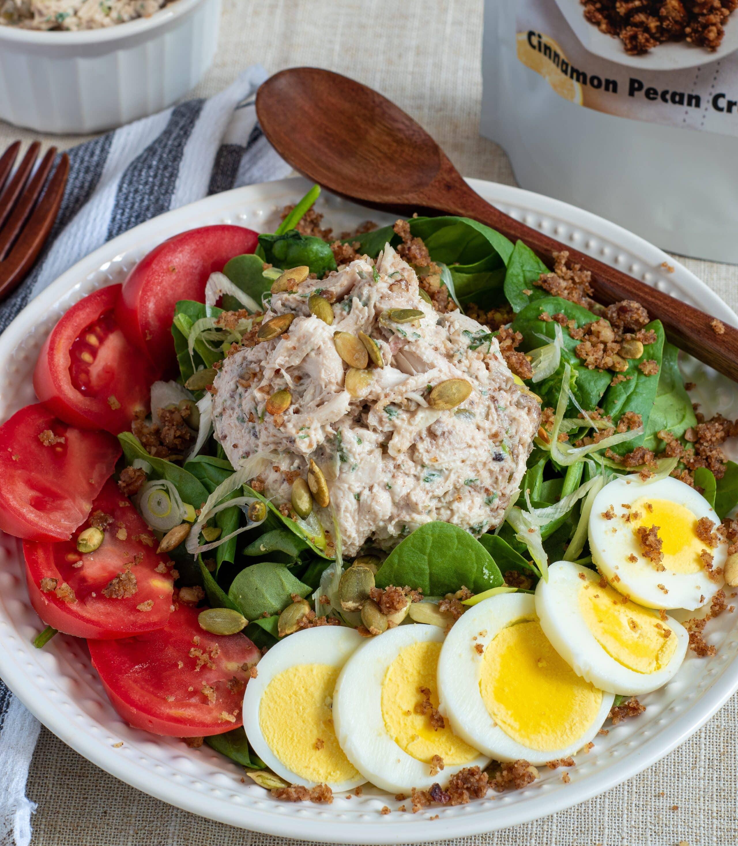 Lollis Cinnamon Pecan Fall harvest chicken salad