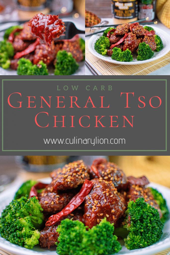 Pintrest Thumbnail Low Carb General Tso Chicken