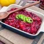 Low carb Jalapeno Cranberry sauce