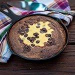 low carb black bottom brownie skillet