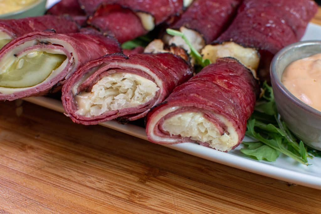 Pastrami roll ups Keto friendly appetizer