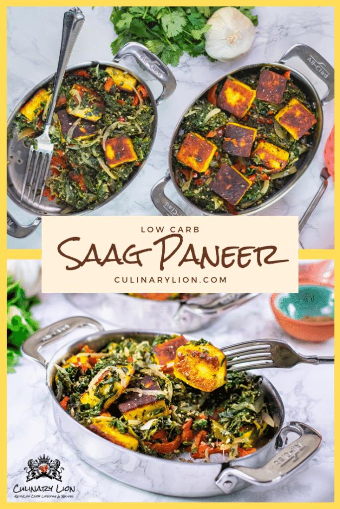Saag Paneer Pintrest thumbnail recipe