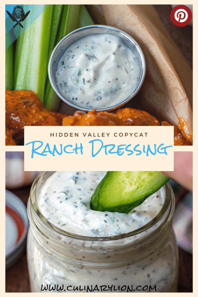ranch dressing hidden valley copycat recipe