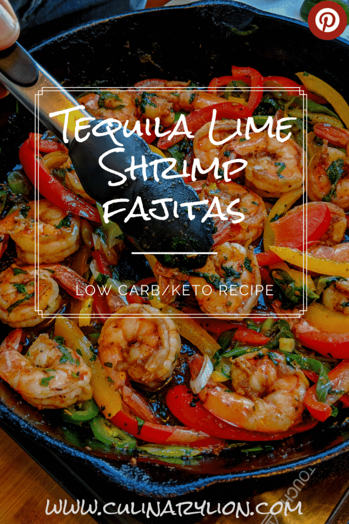 Tequila Lime shrimp Fajitas Pintrest thumbnail