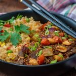 Kung pao beef with cauliflower fried rice low carb recipe