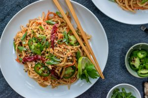 Cold Sesame Noodles w/ Hearts of Palm