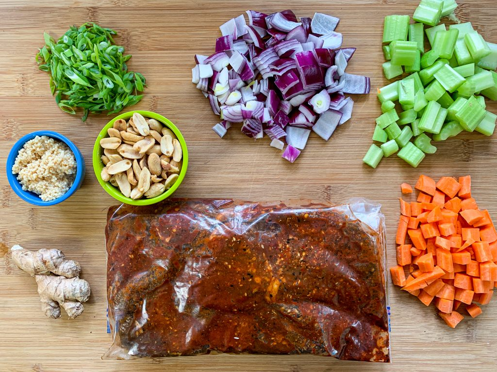 Ingredients for low carb kung pan beef