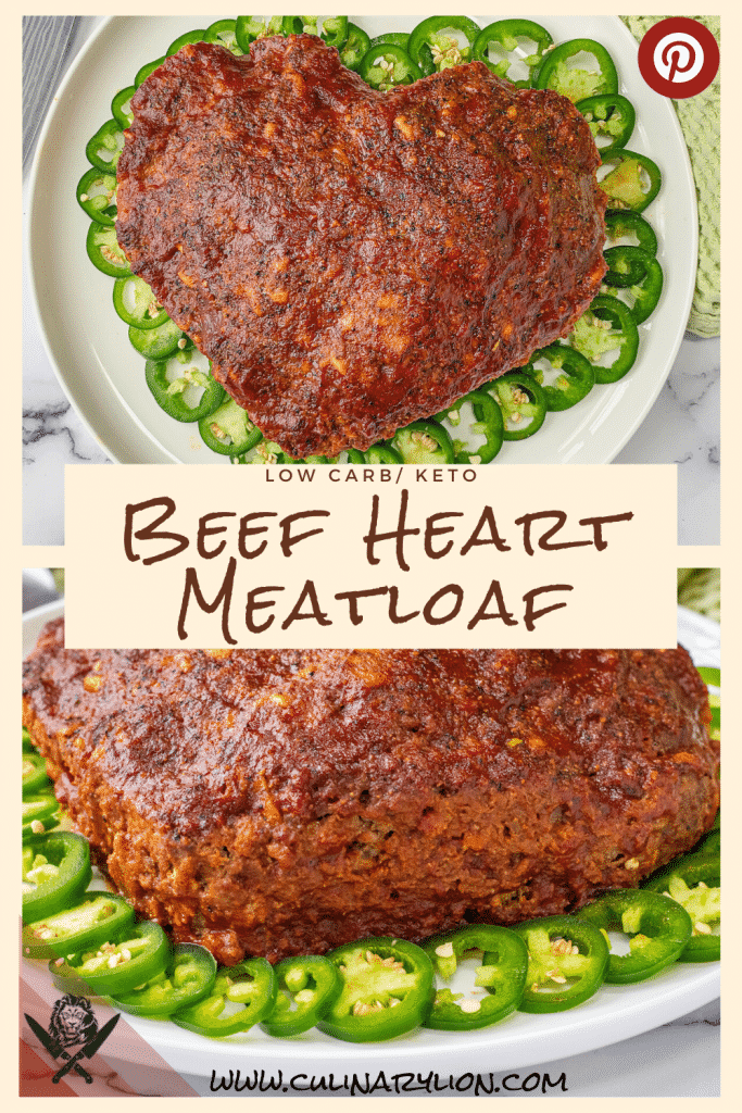 Beef Heart Meatloaf low carb recipe