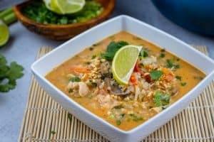 Tom Yum Chicken & Rice Soup