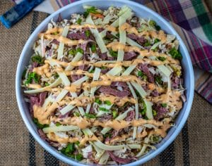 Low Carb Reuben Coleslaw: Leftover Corned Beef Recipe