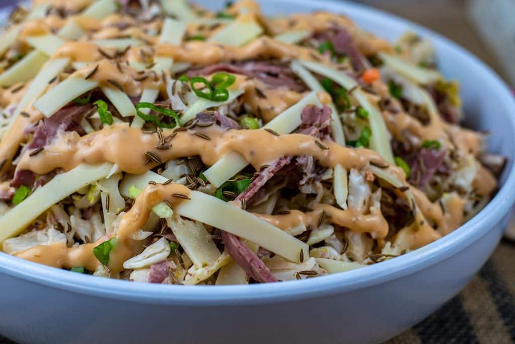 keto reuben coleslaw