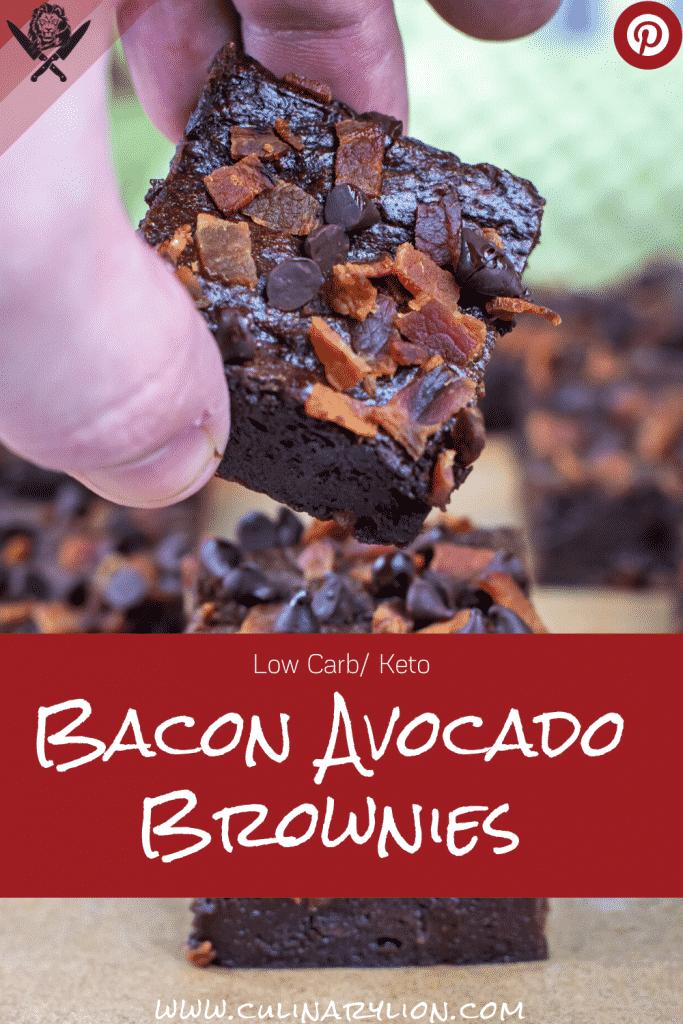 Flourless Keto Bacon avocado brownies