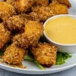 chick fil a copycat sauce recipe with nuggets made with pork rind crumbs