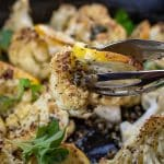 Cauliflower Piccata with lemon butter caper sauce