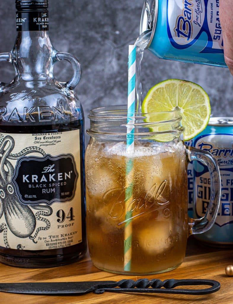 Keto kraken made with Barritt's sugar free ginger beer