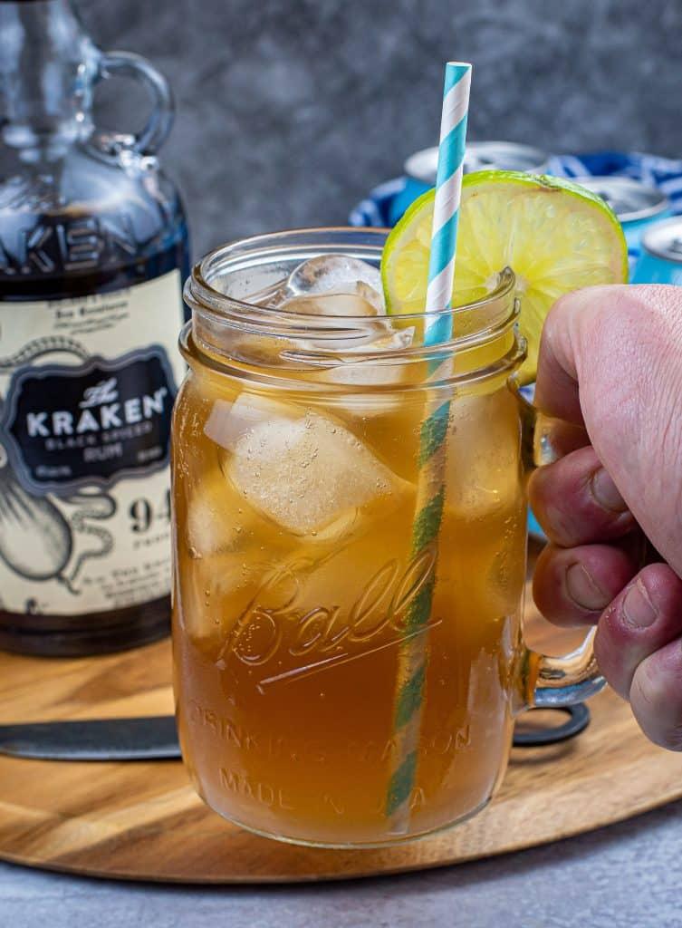 the keto kraken served in a mason jar